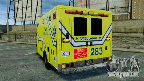 Brute New Liberty Ambulance [ELS] für GTA 4 hinten links Ansicht