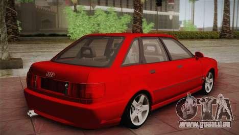 Audi 80 B4 RS2 pour GTA San Andreas sur la vue arrière gauche