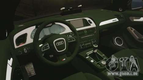 Audi S4 2013 Unmarked Police [ELS] pour GTA 4 est un côté
