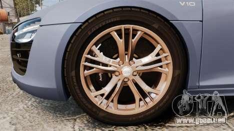 Audi R8 V10 plus Coupe 2014 [EPM] pour GTA 4 Vue arrière