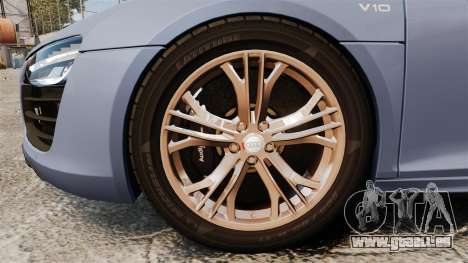 Audi R8 V10 plus Coupe 2014 [EPM] für GTA 4 Rückansicht