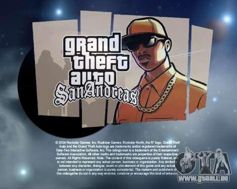 De nouveaux écrans de démarrage de l'Espace pour GTA San Andreas deuxième écran