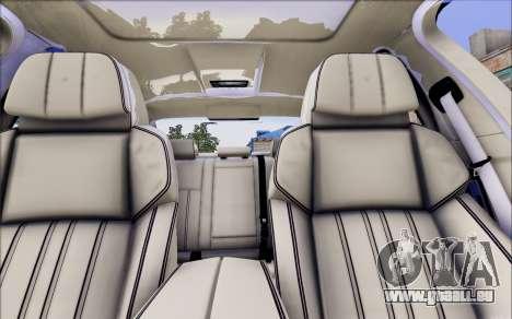 BMW 550 F10 xDrive für GTA San Andreas Rückansicht