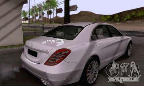 Mercedes-Benz W222 pour GTA San Andreas vue de côté