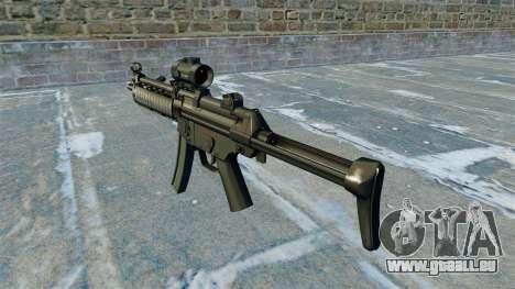 Maschinenpistole MP5 RIS Nom900a für GTA 4 Sekunden Bildschirm