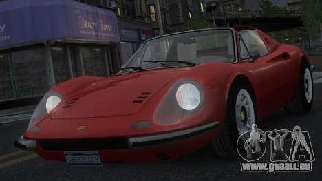 Ferrari Dino 246 GTS pour GTA 4 vue de dessus