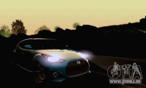 Hyundai Veloster für GTA San Andreas Innenansicht