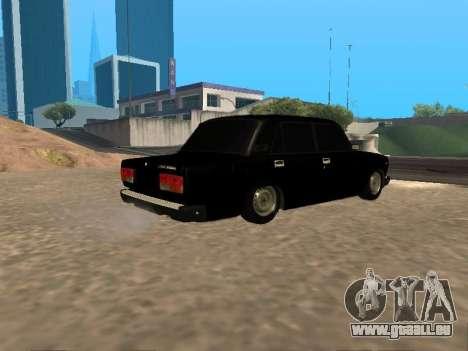 VAZ 2107 v1.2 Final pour GTA San Andreas vue de droite