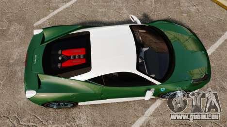 Ferrari 458 Italia pour GTA 4 est un droit
