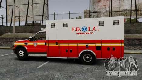 Ford F-250 Super Duty FDLC Ambulance [ELS] für GTA 4 linke Ansicht