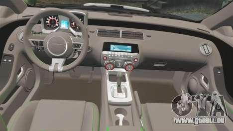 Chevrolet Camaro Police [ELS-EPM] für GTA 4 Rückansicht