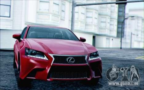 Lexus GS250 F Sport 2013 pour GTA San Andreas