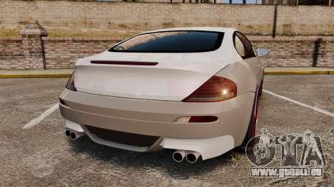 BMW M6 Vossen pour GTA 4 Vue arrière de la gauche