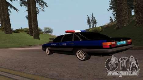 Audi 100 de la Police ОБЭП pour GTA San Andreas laissé vue