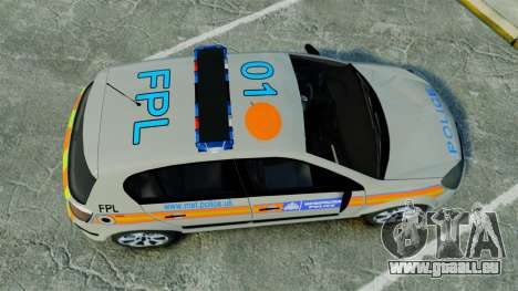 Vauxhall Astra Metropolitan Police [ELS] für GTA 4 rechte Ansicht
