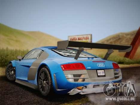 Audi R8 LMS v2.0.4 DR pour GTA San Andreas vue de droite