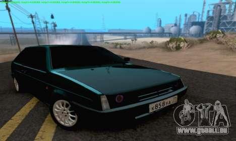 VAZ 2108 Tula pour GTA San Andreas vue arrière
