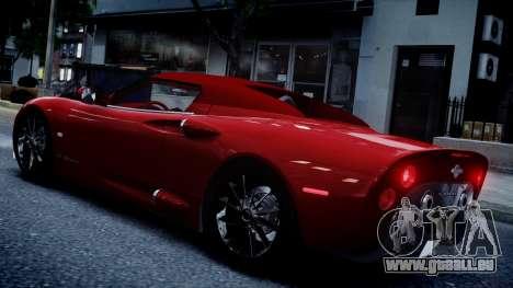 Spyker C8 Aileron Spyder v2.0 pour GTA 4 est un droit