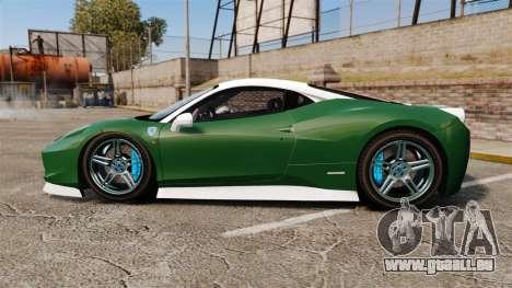Ferrari 458 Italia pour GTA 4 est une gauche