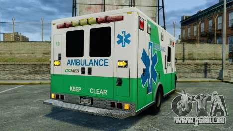 Brute GQ Med Ambulance [ELS] für GTA 4 hinten links Ansicht