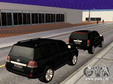 Cadillac Escalade 2010 pour GTA San Andreas vue intérieure