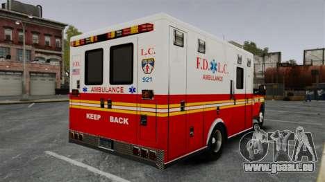 Ford F-250 Super Duty FDLC Ambulance [ELS] pour GTA 4 Vue arrière de la gauche