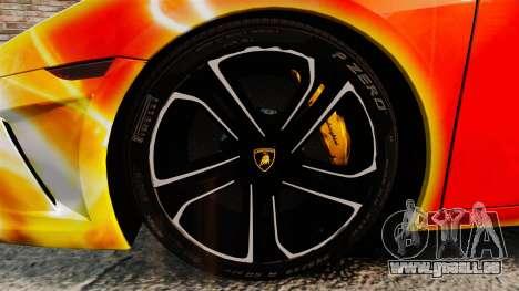 Lamborghini Gallardo 2013 Red Light für GTA 4 Rückansicht