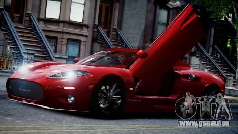 Spyker C8 Aileron Spyder v2.0 pour GTA 4 vue de dessus