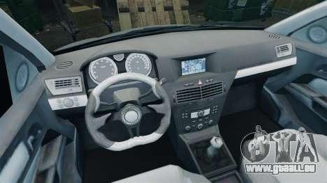 Vauxhall Astra Metropolitan Police [ELS] pour GTA 4 Vue arrière