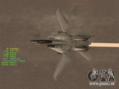F-14 Tomcat HQ pour GTA San Andreas salon