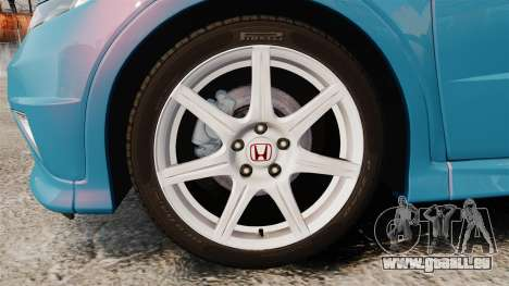 Honda Civic Type R 2007 pour GTA 4 Vue arrière