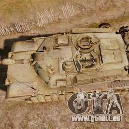 M1A2 Abrams für GTA 4 rechte Ansicht