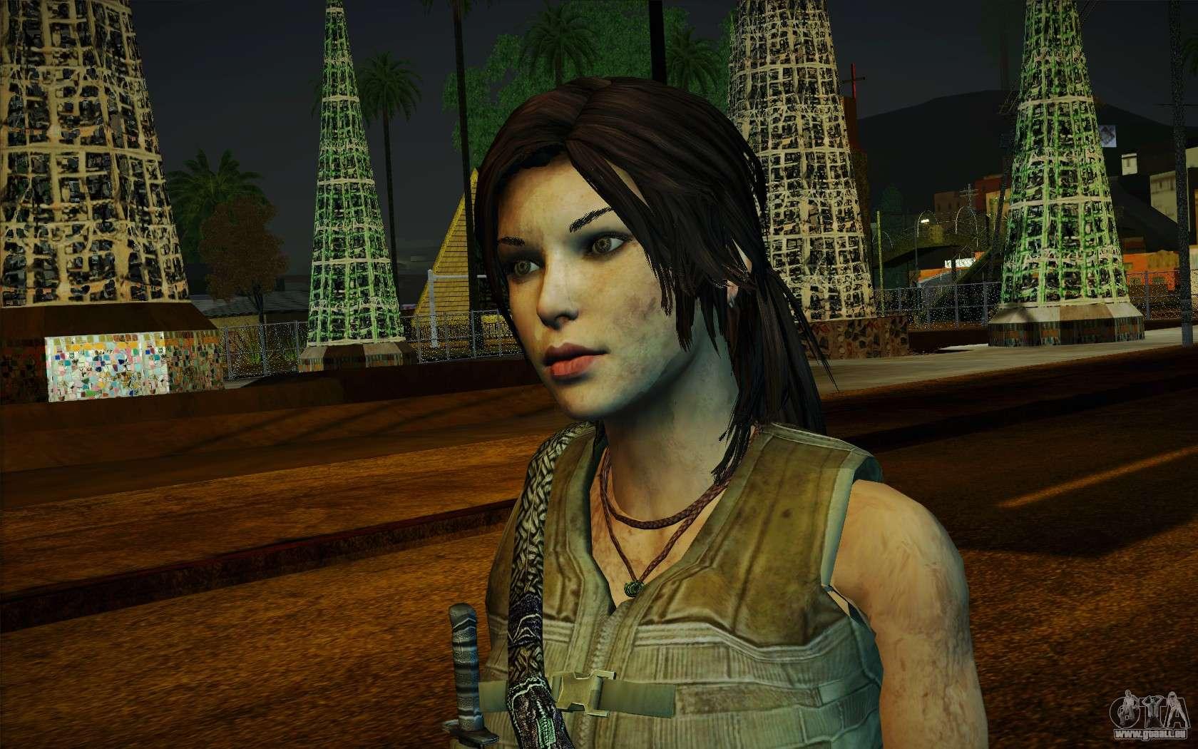 GTA San Andreas Tomb Raider Lara Croft Guerilla Outfit Mod