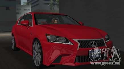 Lexus GS350 F Sport 2013 pour GTA Vice City