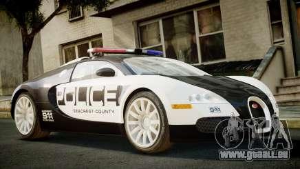 Bugatti Veyron 16.4 Police NFS Hot Pursuit pour GTA 4