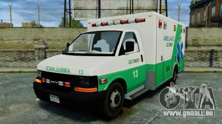 Brute GQ Med Ambulance [ELS] pour GTA 4