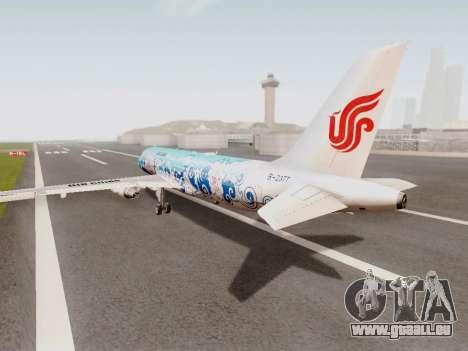 Airbus A320 Air China für GTA San Andreas zurück linke Ansicht