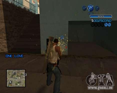 C-HUD Minimal für GTA San Andreas her Screenshot
