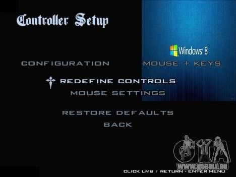 Le Menu Windows pour GTA San Andreas neuvième écran