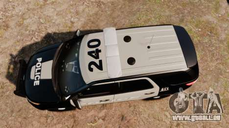 Ford Explorer 2013 LCPD [ELS] Black and Gray für GTA 4 rechte Ansicht
