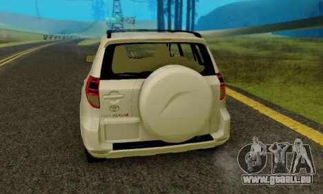 Toyota RAV4 pour GTA San Andreas vue de droite
