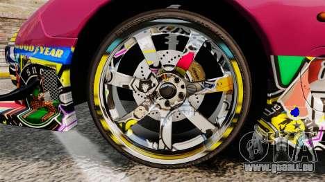 Mazda RX-7 D1 Sticker Bomb pour GTA 4 Vue arrière