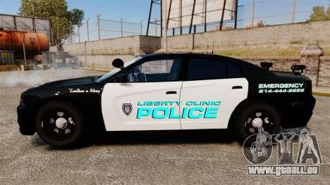 Dodge Charger 2011 Liberty Clinic Police [ELS] pour GTA 4 est une gauche
