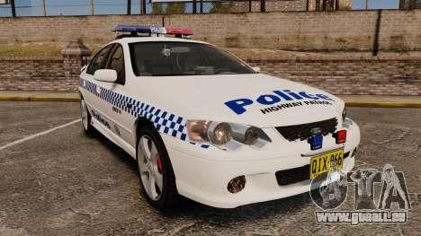 Ford Falcon XR8 Police Western Australia [ELS] pour GTA 4