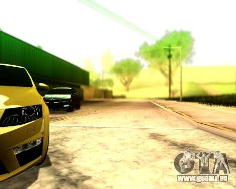 Skoda Octavia A7 RS pour GTA San Andreas vue arrière