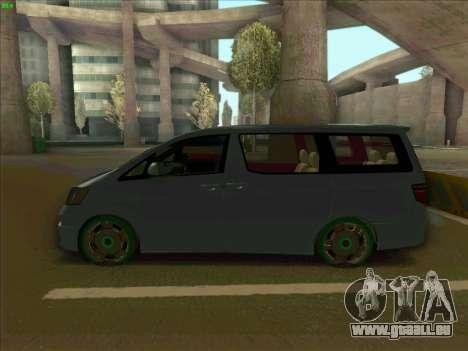 Toyota Alphard für GTA San Andreas linke Ansicht