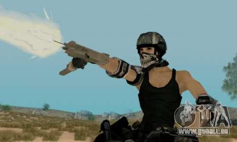 SWAT GIRL pour GTA San Andreas troisième écran