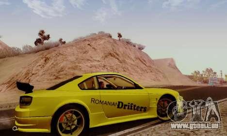 Nissan Silvia S15 Romanian Drifters für GTA San Andreas Rückansicht