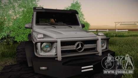 Mercedes-Benz G63 AMG 6X6 pour GTA San Andreas vue arrière