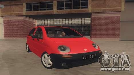 Daewoo Matiz I SE 1998 pour GTA San Andreas